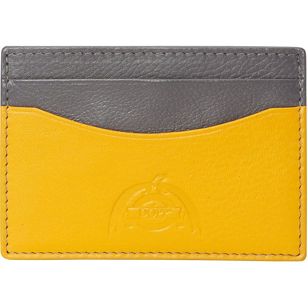 Dopp Tribeca RFID Front Pocket Get Away Graphite w Saffron Dopp Men s Wallets