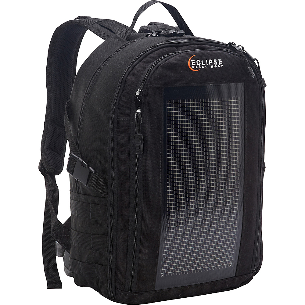 Eclipse Solar Gear Trekker Solar Backpack Black/MOLLE - Eclipse Solar Gear Backpacking Packs