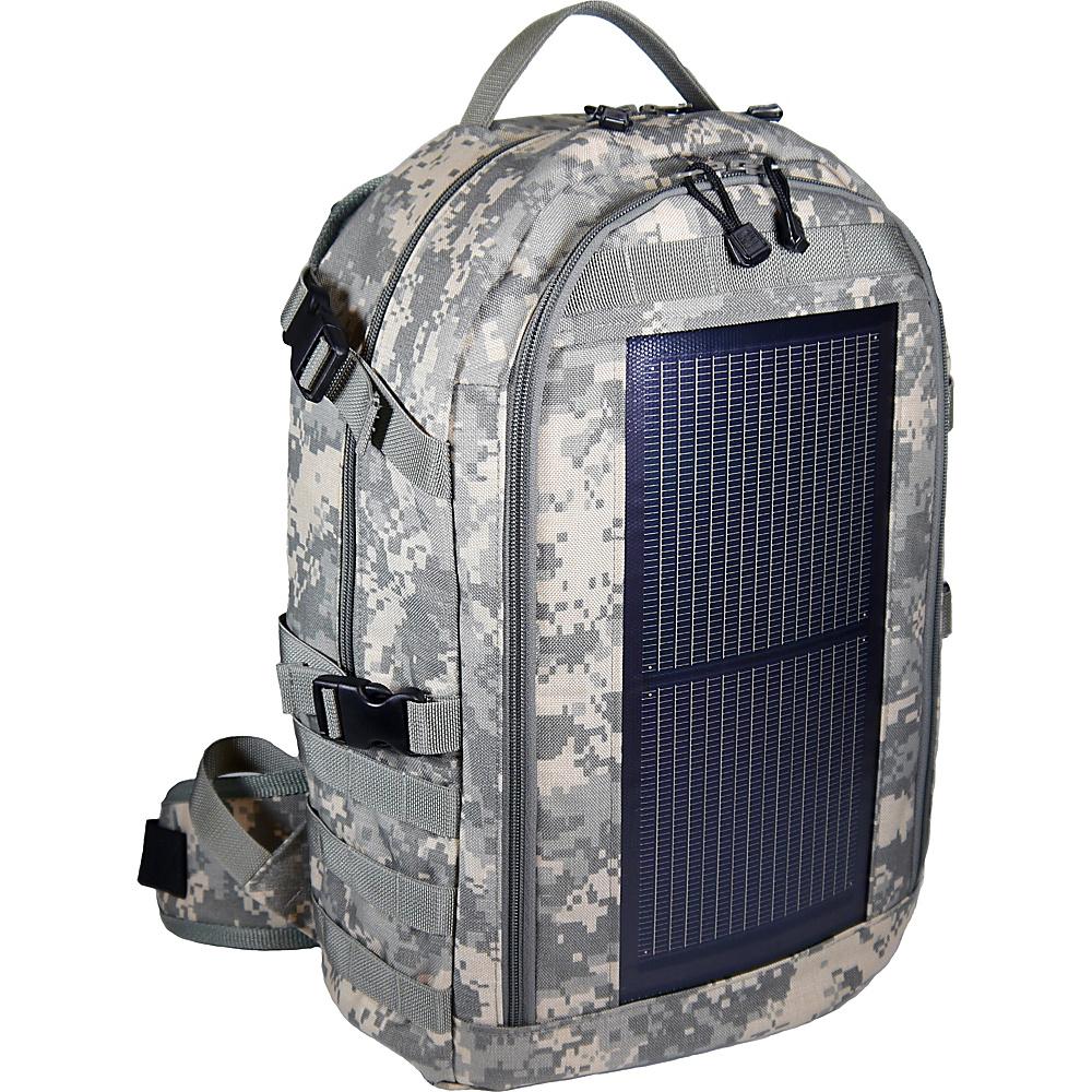 Eclipse Solar Gear Trekker Solar Backpack Camo/MOLLE - Eclipse Solar Gear Backpacking Packs