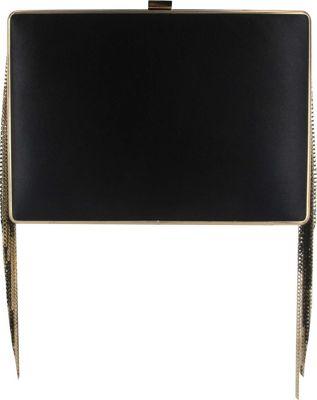 Sondra Roberts Fringe Box Clutch Black/Gold - Sondra Roberts Manmade Handbags