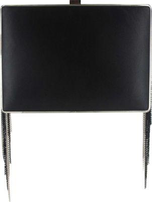 Sondra Roberts Fringe Box Clutch Black/Silver - Sondra Roberts Manmade Handbags