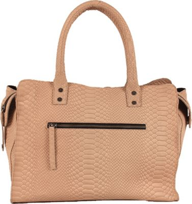 Day & Mood Olivia Animal Satchel Nude - Day & Mood Leather Handbags