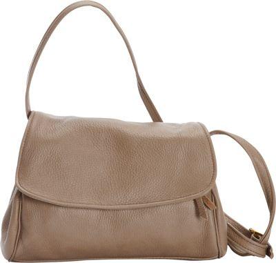 Victoria Leather Jerry Jr. Shoulder Bag Taupe - Victoria Leather Leather Handbags
