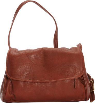 Victoria Leather Jerry Jr. Shoulder Bag Cognac - Victoria Leather Leather Handbags