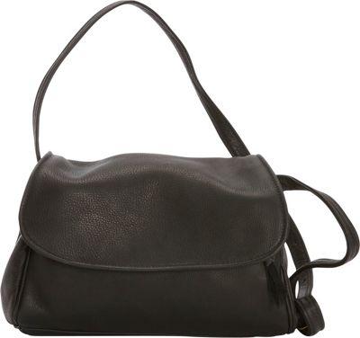Victoria Leather Jerry Jr. Shoulder Bag Black - Victoria Leather Leather Handbags