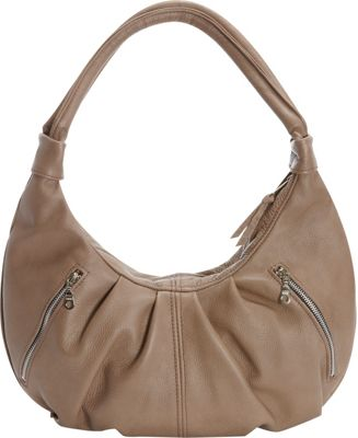 Victoria Leather Tessa Shoulder Bag Taupe - Victoria Leather Leather Handbags