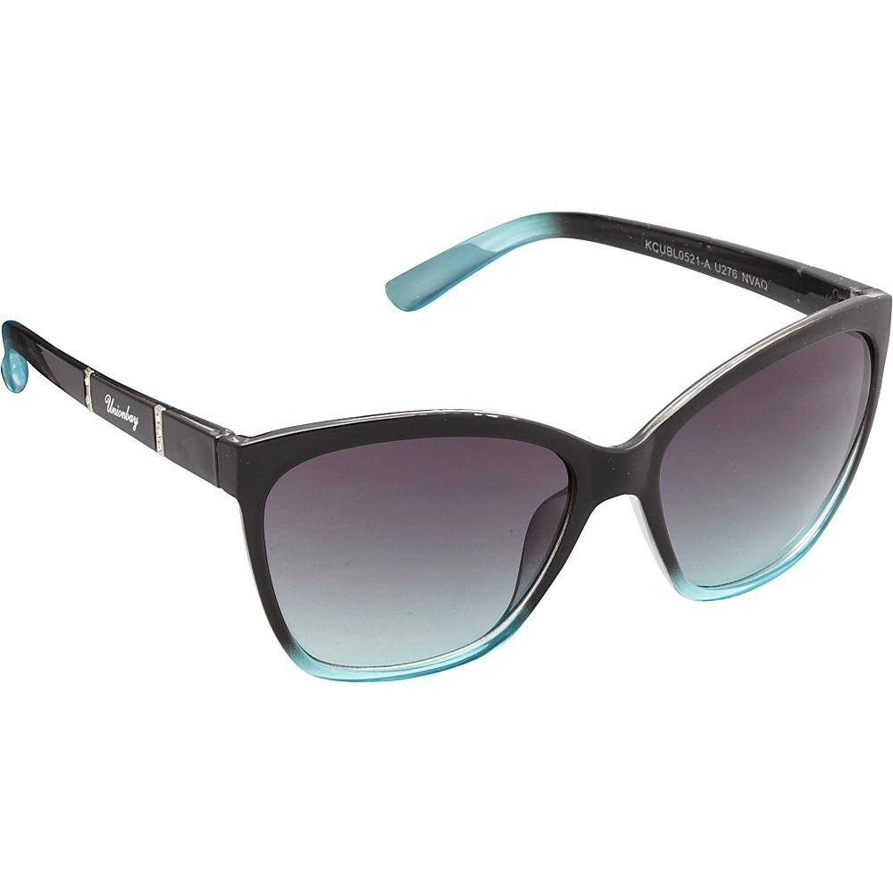 Unionbay Eyewear Rhinestone Cat Eye Sunglasses Navy Aqua Unionbay Eyewear Sunglasses