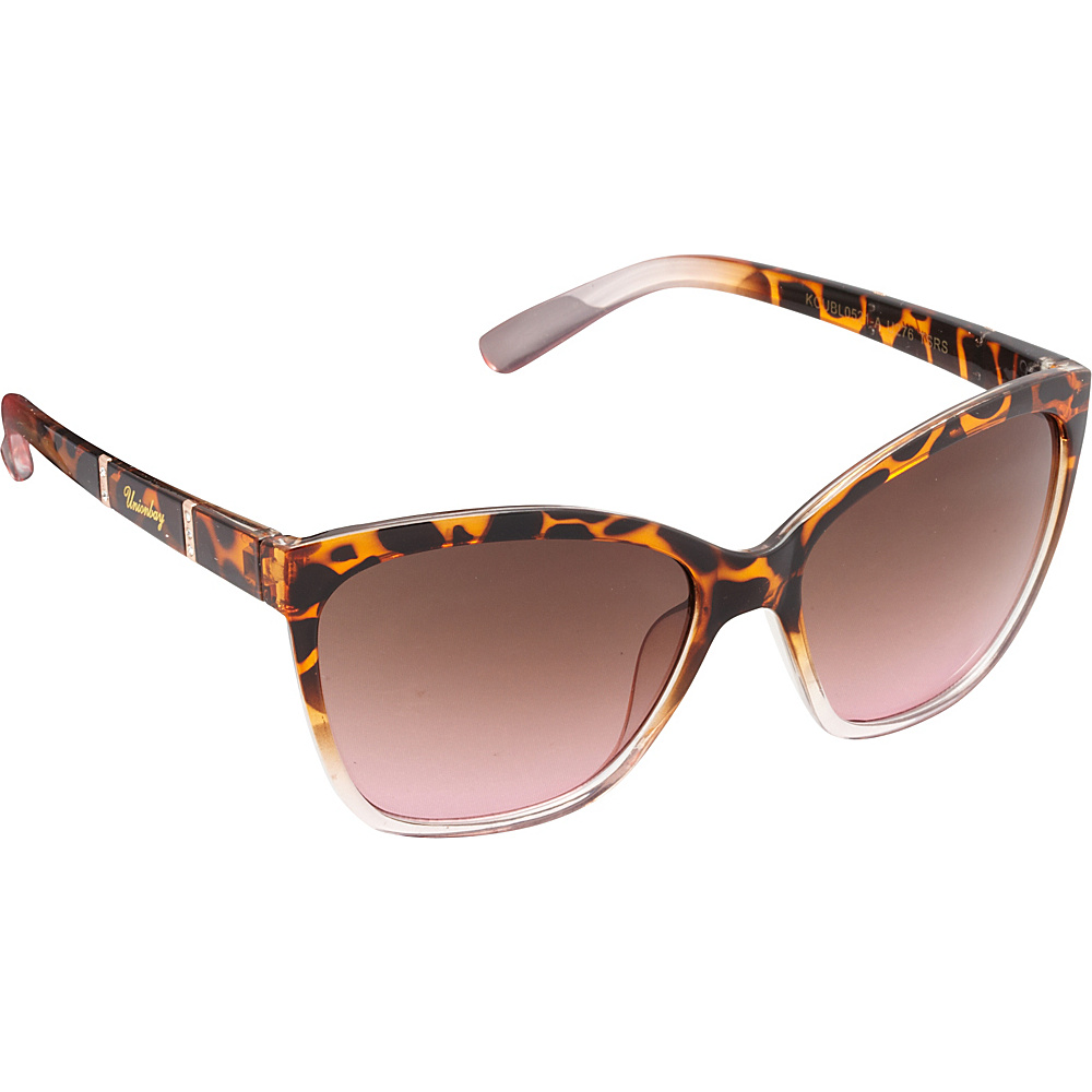 Unionbay Eyewear Rhinestone Cat Eye Sunglasses Tortoise Rose Unionbay Eyewear Sunglasses