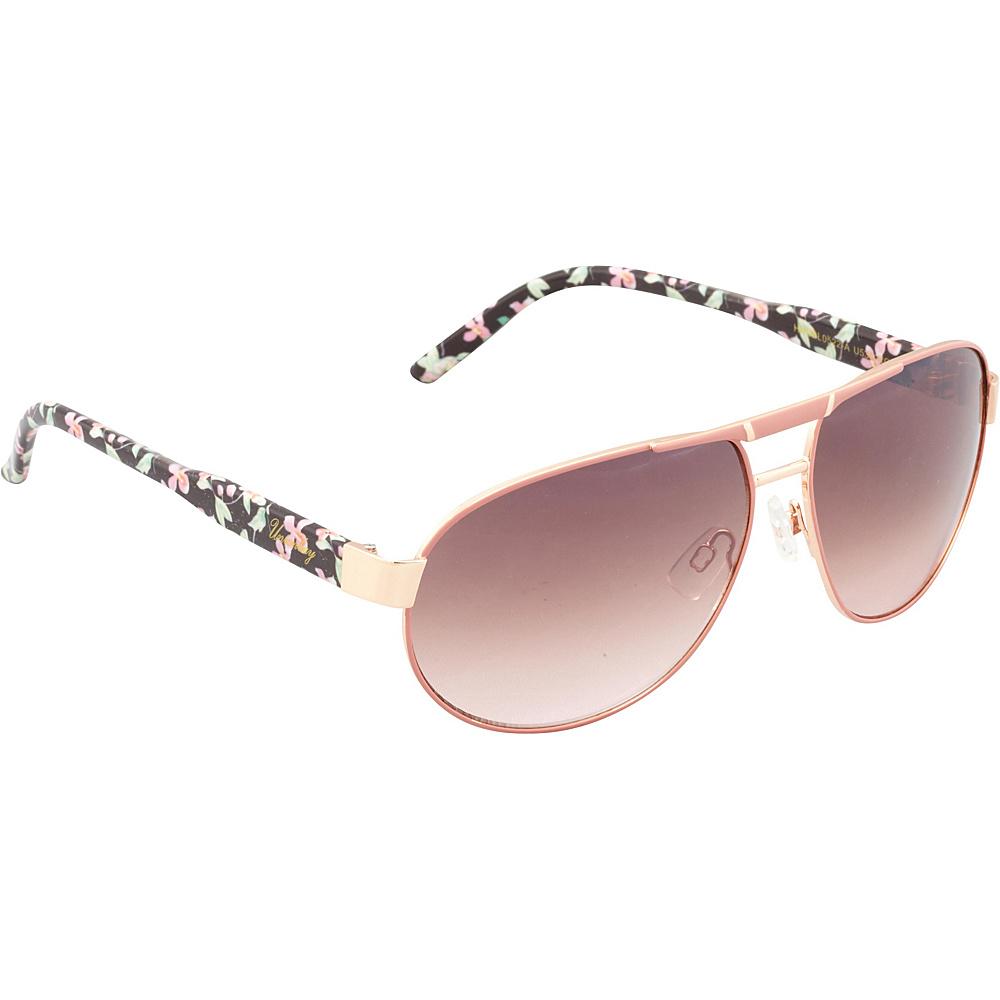 Unionbay Eyewear Metal Aviator Sunglasses Rosegold Fade Unionbay Eyewear Sunglasses