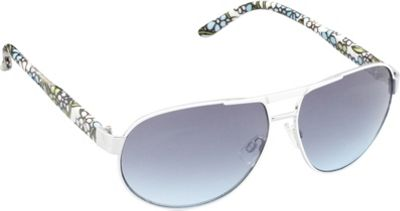 Unionbay Eyewear Metal Aviator Sunglasses Silver Floral - Unionbay Eyewear Sunglasses