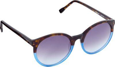 Elie Tahari Sunglasses Retro Round Sunglasses Tortoise/Blue - Elie Tahari Sunglasses Sunglasses