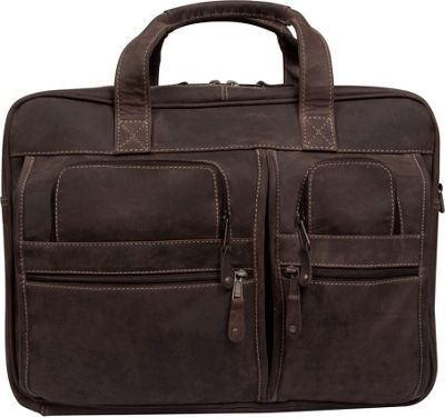 Canyon Outback Leather Casa Grande Canyon 15.6-inch Leather Computer Bag Distressed Brown - Canyon Outback Non-Wheeled Computer Cases