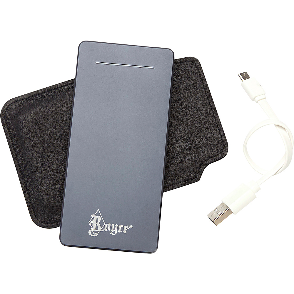 Royce Leather Luxury Travel Dual-Port External Battery Portable Charger (6500 mAh) Black - Royce Leather Portable Batteries & Chargers - Technology, Portable Batteries & Chargers