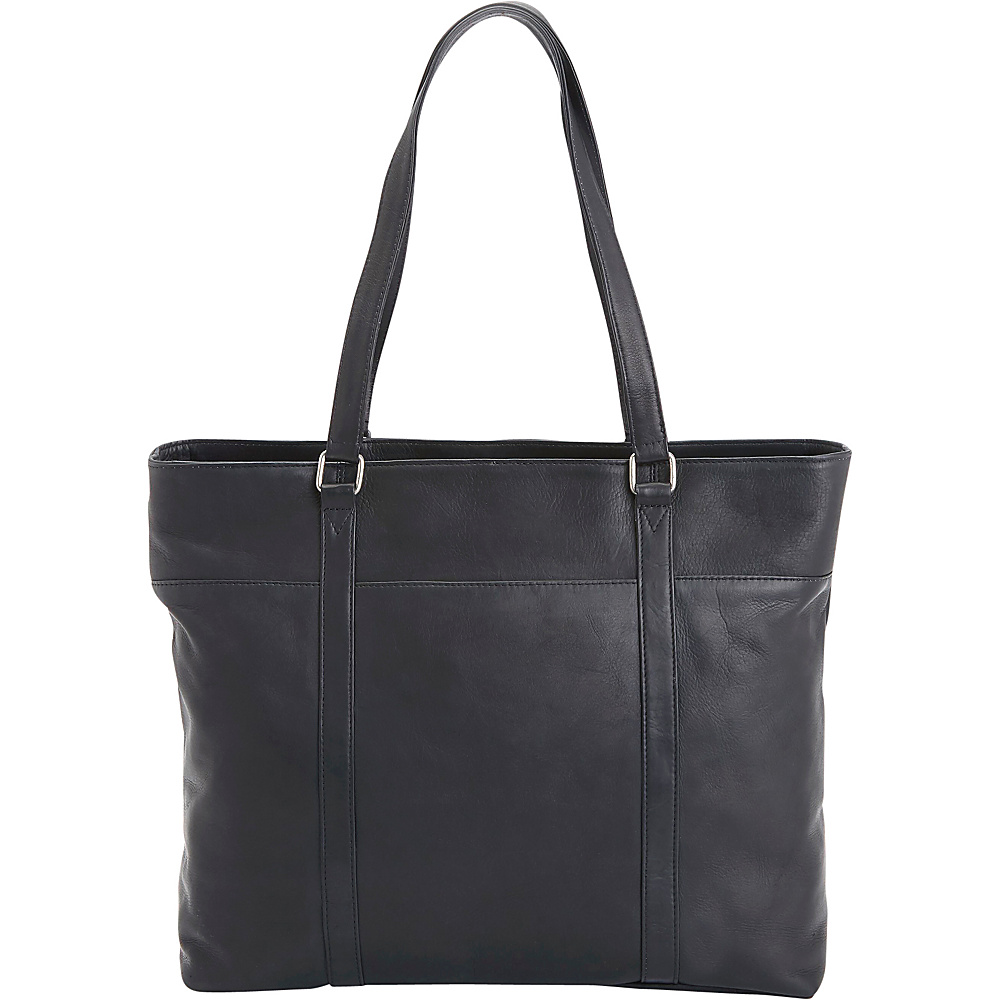 Royce Leather Women's Colombian Leather Carryall Tote Black - Royce Leather Women's Business Bags