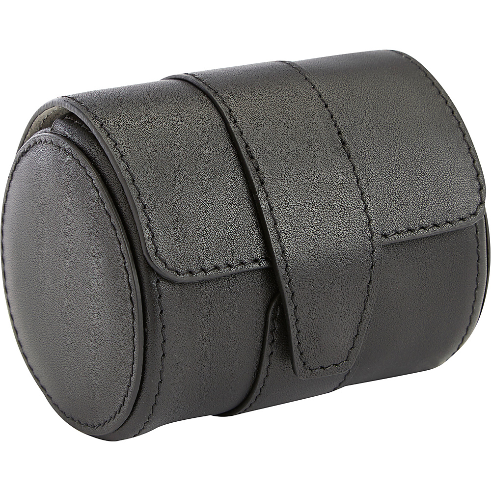 Royce Leather Executive Travel Watch Roll with Suede Interior Black Royce Leather Travel Organizers