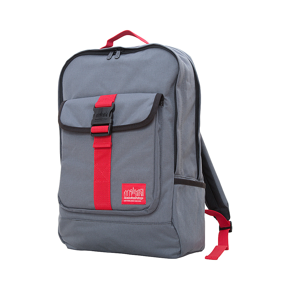 Manhattan Portage Stuyvesant Backpack Grey/Red - Manhattan Portage Everyday Backpacks - Backpacks, Everyday Backpacks