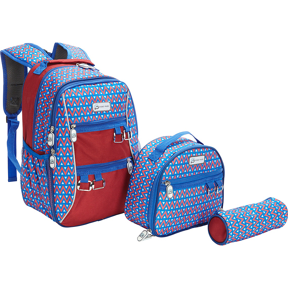 Sydney Paige Buy One Give One Kids Backpack Lunch Bag Pencil Case Set Blue Tents Sydney Paige Everyday Backpacks