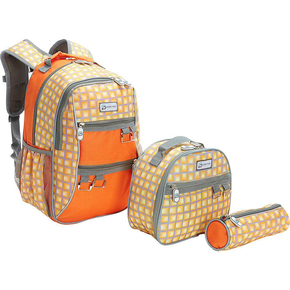 Sydney Paige Buy One Give One Kids Backpack Lunch Bag Pencil Case Set Orange Tunnels Sydney Paige Everyday Backpacks