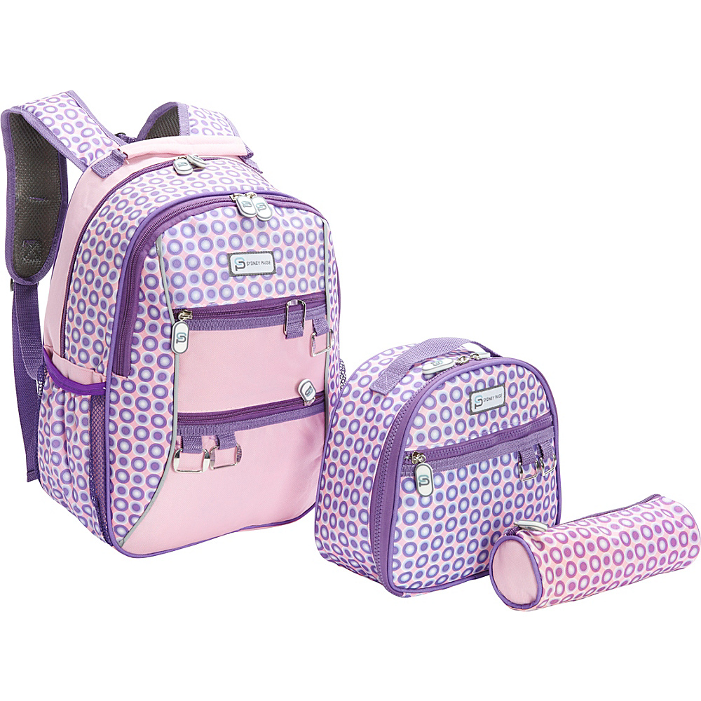 Sydney Paige Buy One Give One Kids Backpack Lunch Bag Pencil Case Set Purple Spotlight Sydney Paige Everyday Backpacks