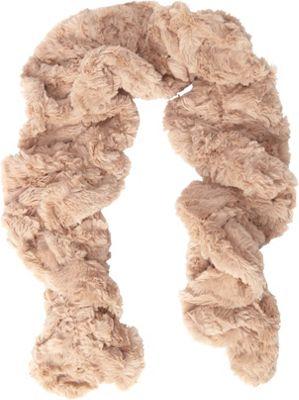 Jessica McClintock Scarves Faux Fur Neck Warmer Camel - Jessica McClintock Scarves Hats/Gloves/Scarves