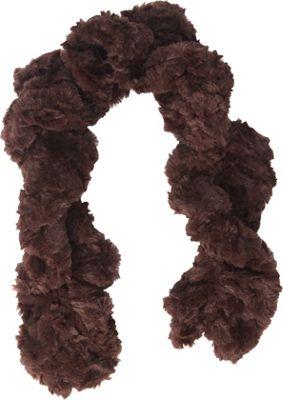 Jessica McClintock Scarves Faux Fur Neck Warmer Brown - Jessica McClintock Scarves Hats/Gloves/Scarves