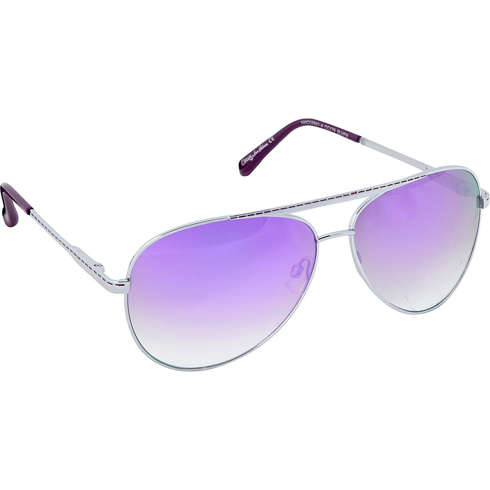 Circus by Sam Edelman Sunglasses Aviator Sunglasses Silver Purple Circus by Sam Edelman Sunglasses Sunglasses