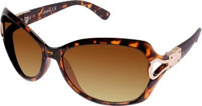 SouthPole Eyewear Oval Glam Sunglasses Tortoise - SouthPole Eyewear Sunglasses