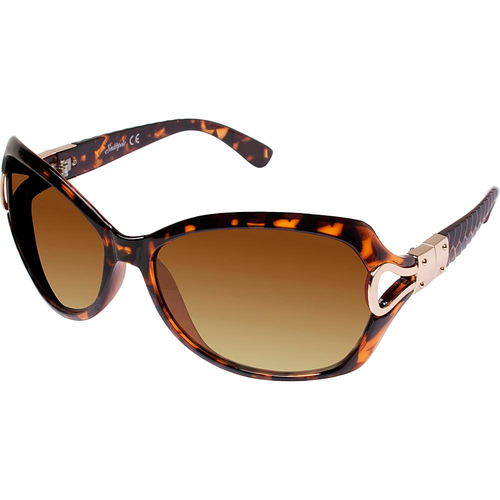 SouthPole Eyewear Oval Glam Sunglasses Tortoise SouthPole Eyewear Sunglasses