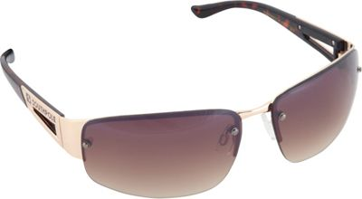 SouthPole Eyewear Semi Rimless Oval Sunglasses Gold - SouthPole Eyewear Sunglasses