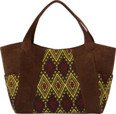 Journey Collection by Annette Ferber Bombay Tote Chocolate/Pattern - Journey Collection by Annette Ferber Leather Handbags