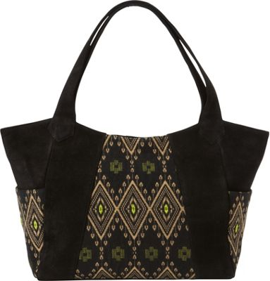 Journey Collection by Annette Ferber Bombay Tote Black/Pattern - Journey Collection by Annette Ferber Leather Handbags