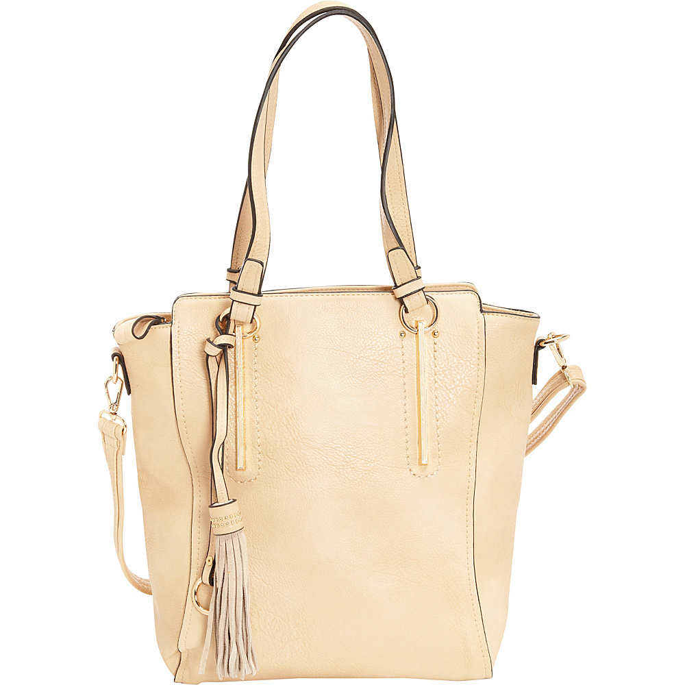 SW Global Maren Tote Bag Beige - SW Global Manmade Handbags - Handbags, Manmade Handbags
