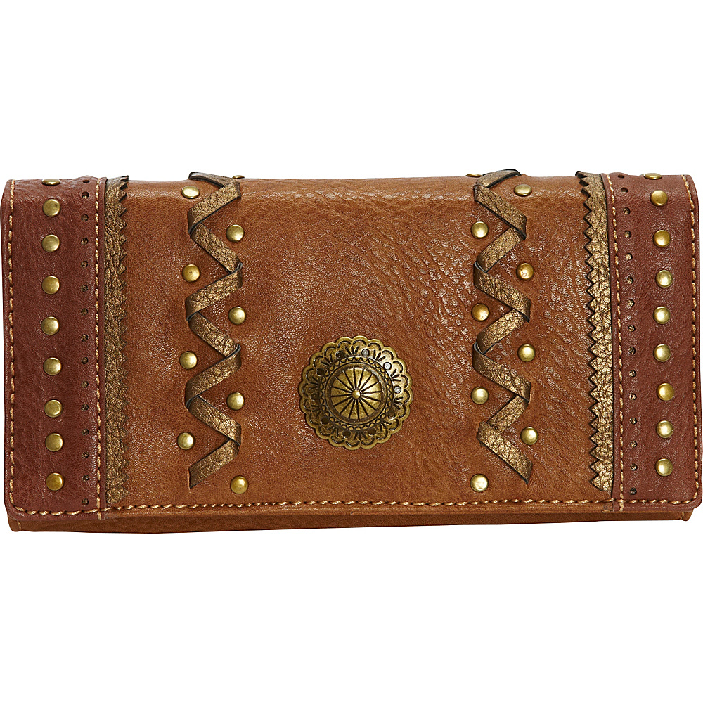 Bandana Grand Junction Flap Wallet Golden Tan Bandana Women s Wallets