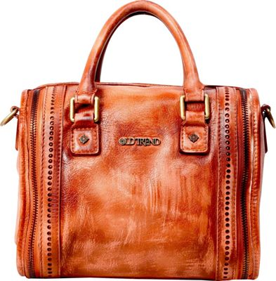 Old Trend Old Trend Mini Trunk Satchel Cognac - Old Trend Leather Handbags