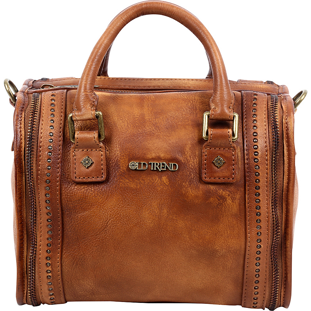Old Trend Mini Trunk Satchel Tan Old Trend Leather Handbags