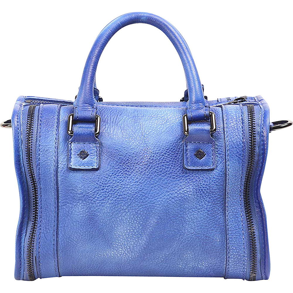 Old Trend Mini Trunk Satchel Sky Blue Old Trend Leather Handbags