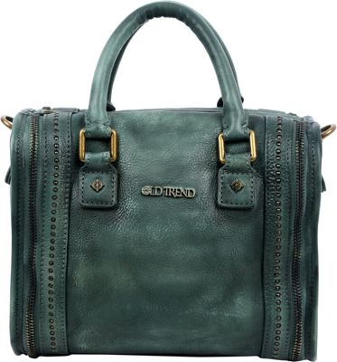 Old Trend Mini Trunk Satchel Vintage Green - Old Trend Leather Handbags