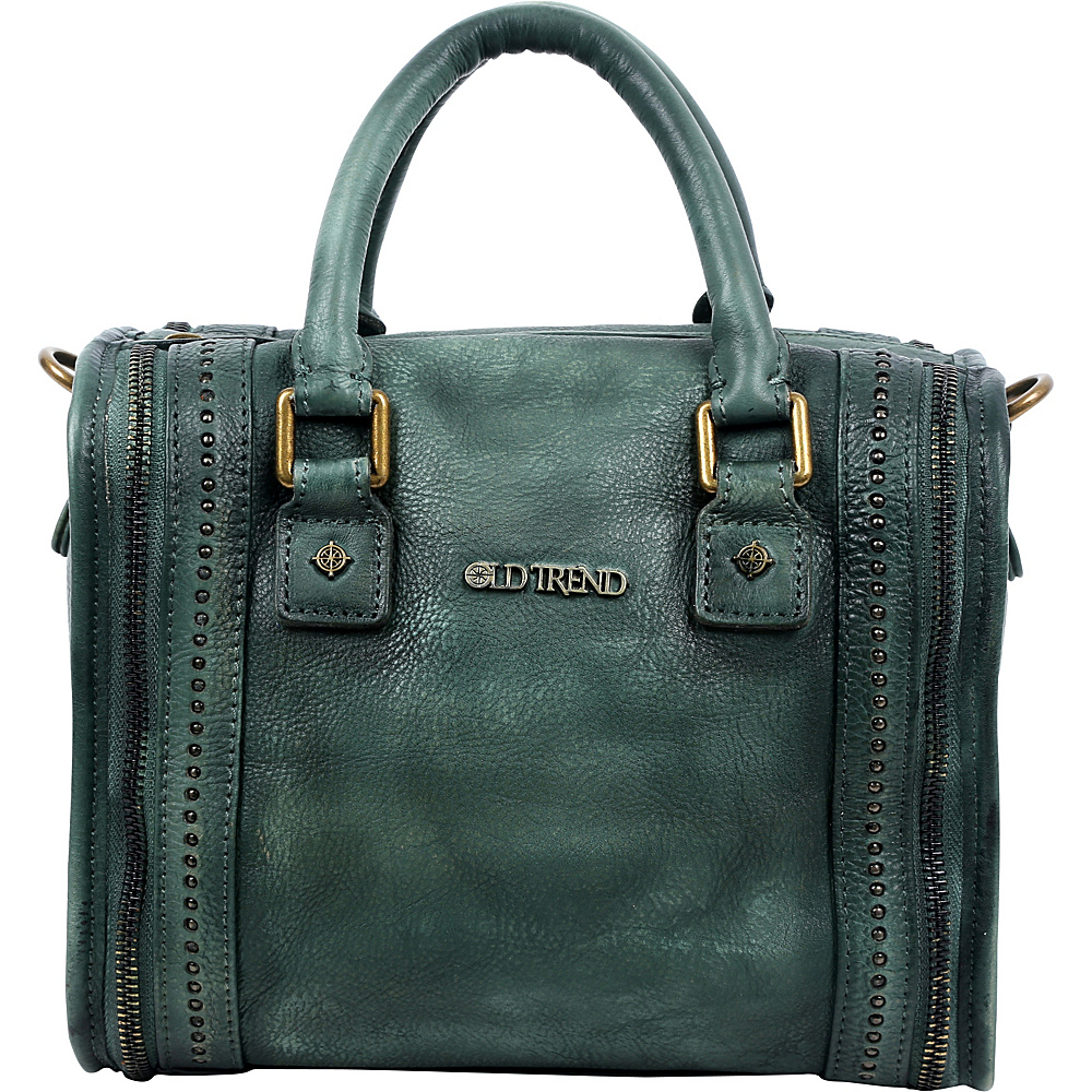 Old Trend Mini Trunk Satchel Vintage Green Old Trend Leather Handbags