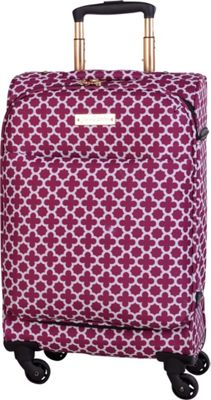 Jenni Chan Aria Broadway 20 inch Upright Spinner Cranberry - Jenni Chan Softside Carry-On