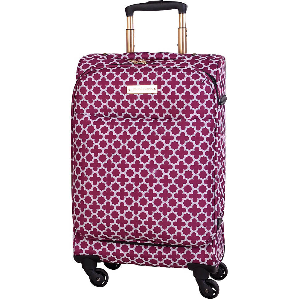 Jenni Chan Aria Broadway 20 Upright Spinner Cranberry Jenni Chan Softside Carry On