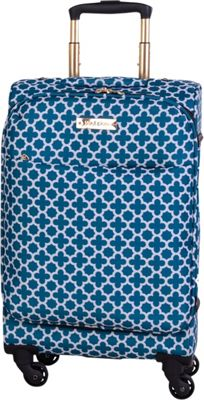 Jenni Chan Aria Broadway 20 inch Upright Spinner Green/Teal - Jenni Chan Softside Carry-On