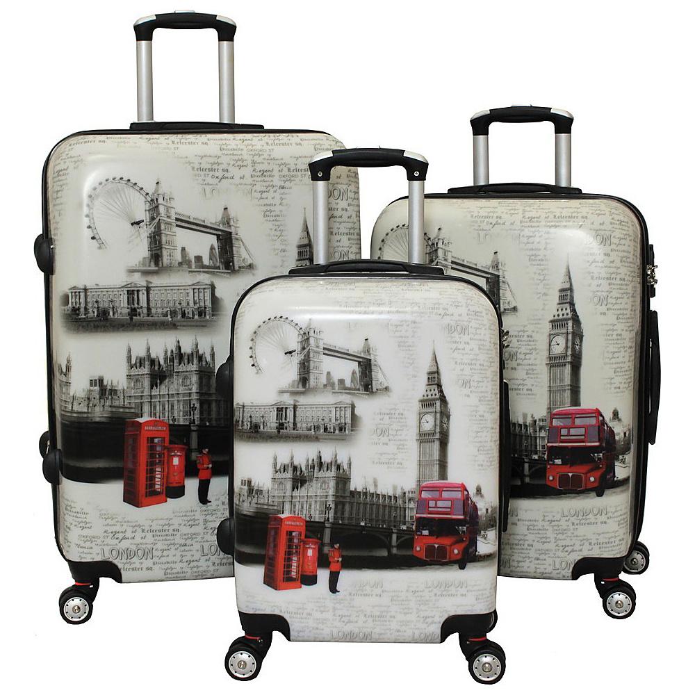 World Traveler London 3-Piece TSA Lock Hardside Spinner Luggage Set London - World Traveler Luggage Sets - Luggage, Luggage Sets