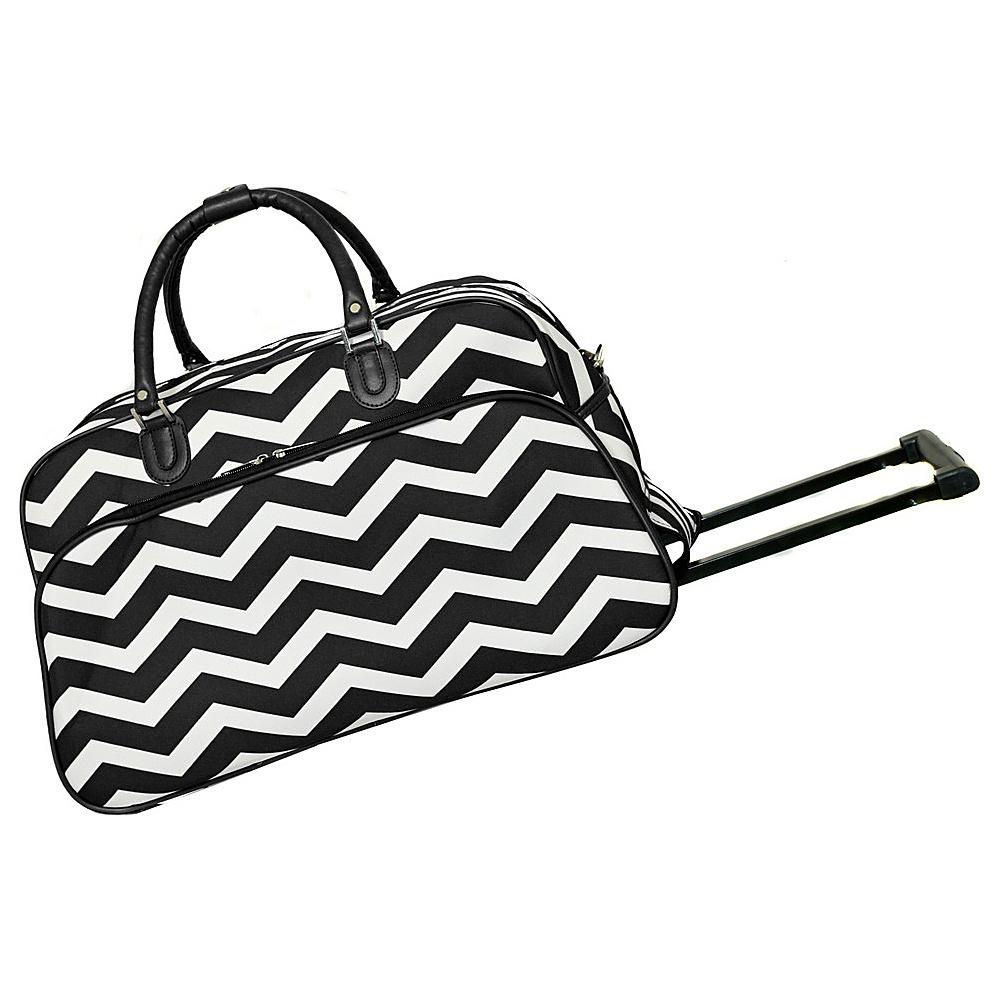 World Traveler Chevron 21 Rolling Duffel Bag Black White Chevron - World Traveler Rolling Duffels - Luggage, Rolling Duffels