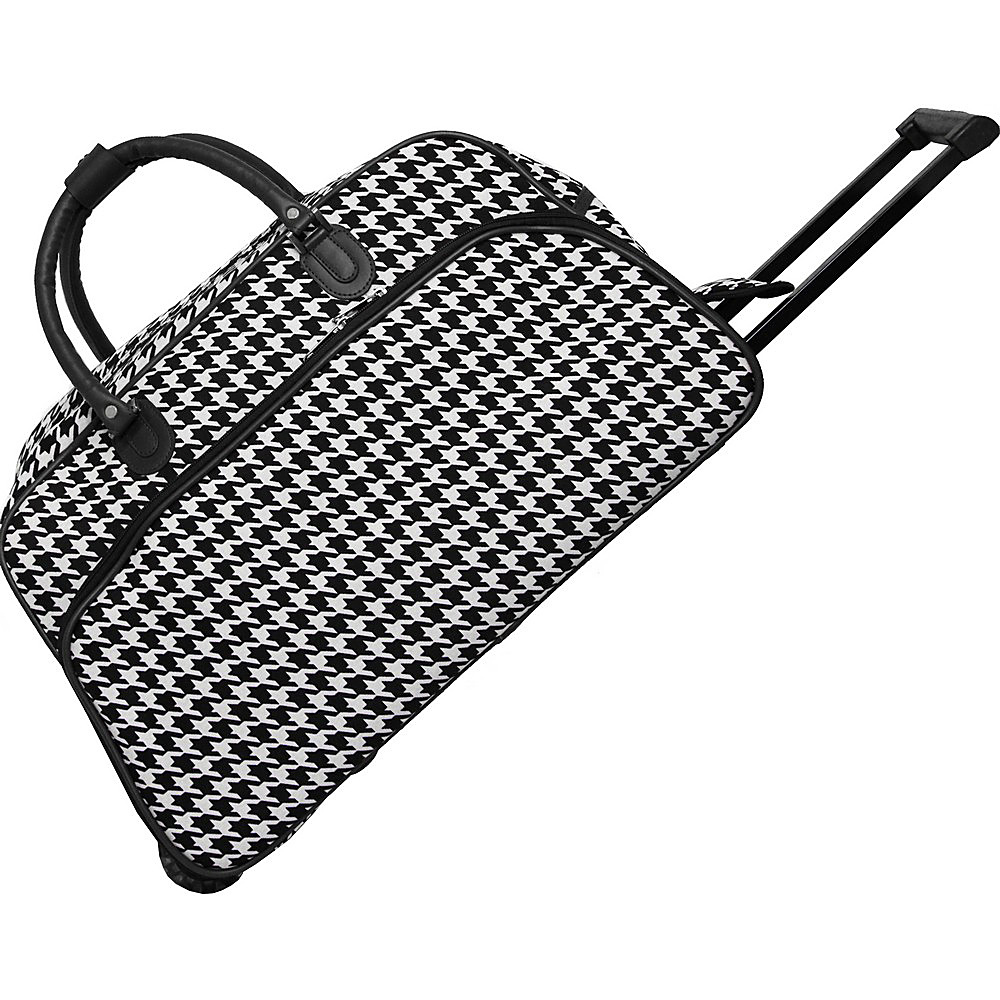 World Traveler Houndstooth 21 Rolling Duffel Bag Black Trim Houndstooth - World Traveler Rolling Duffels - Luggage, Rolling Duffels