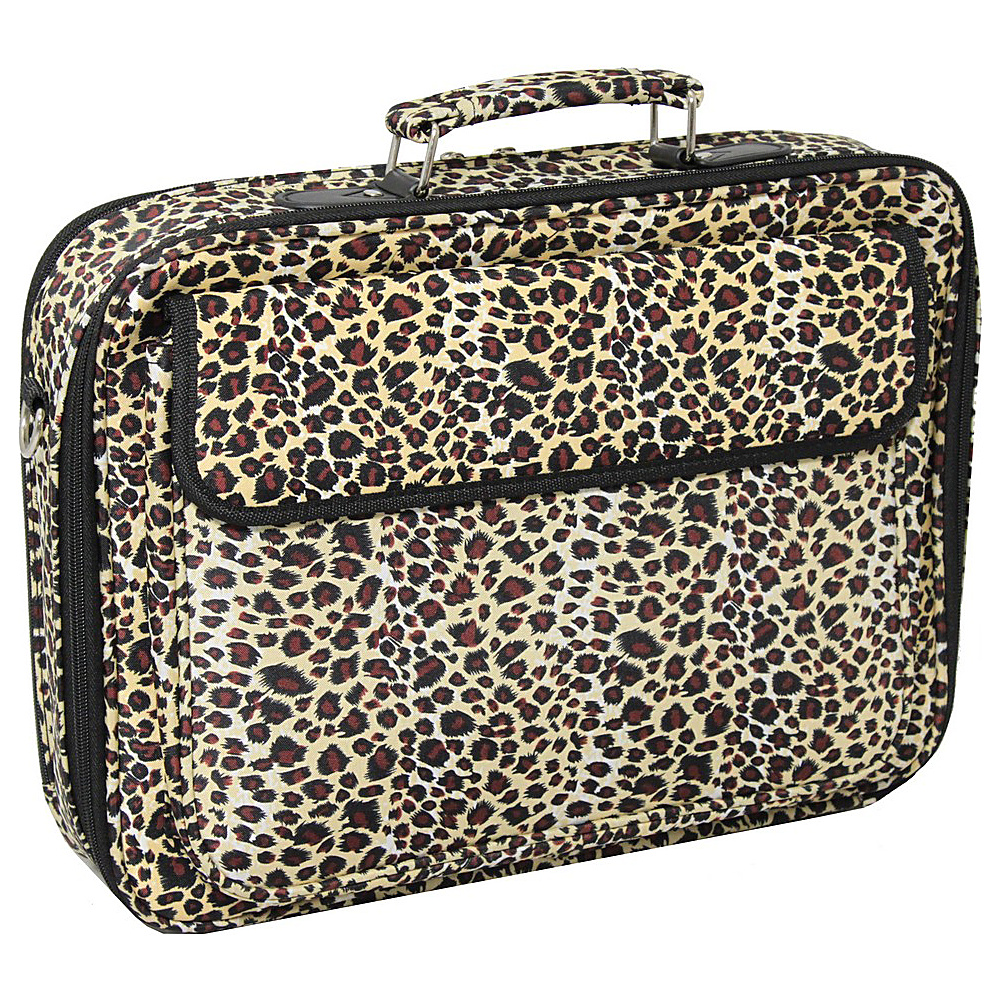 World Traveler Leopard 17 Laptop Case Leopard - World Traveler Non-Wheeled Business Cases - Work Bags & Briefcases, Non-Wheeled Business Cases