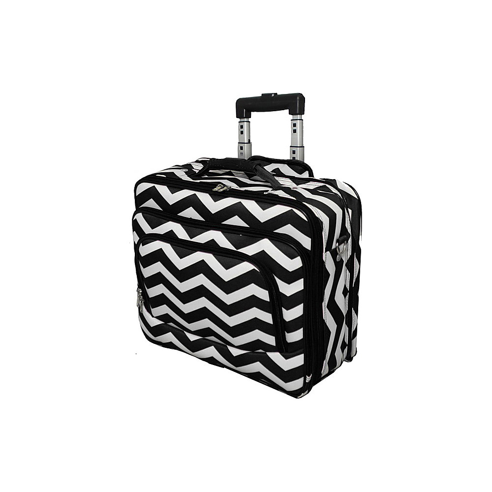 World Traveler Chevron Rolling 17 Laptop Case Black White Chevron - World Traveler Non-Wheeled Business Cases - Work Bags & Briefcases, Non-Wheeled Business Cases