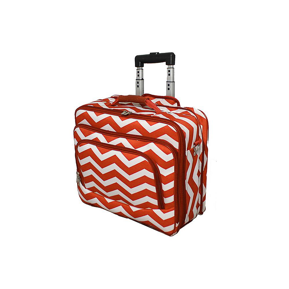 World Traveler Chevron Rolling 17 Laptop Case Orange White Chevron - World Traveler Non-Wheeled Business Cases - Work Bags & Briefcases, Non-Wheeled Business Cases