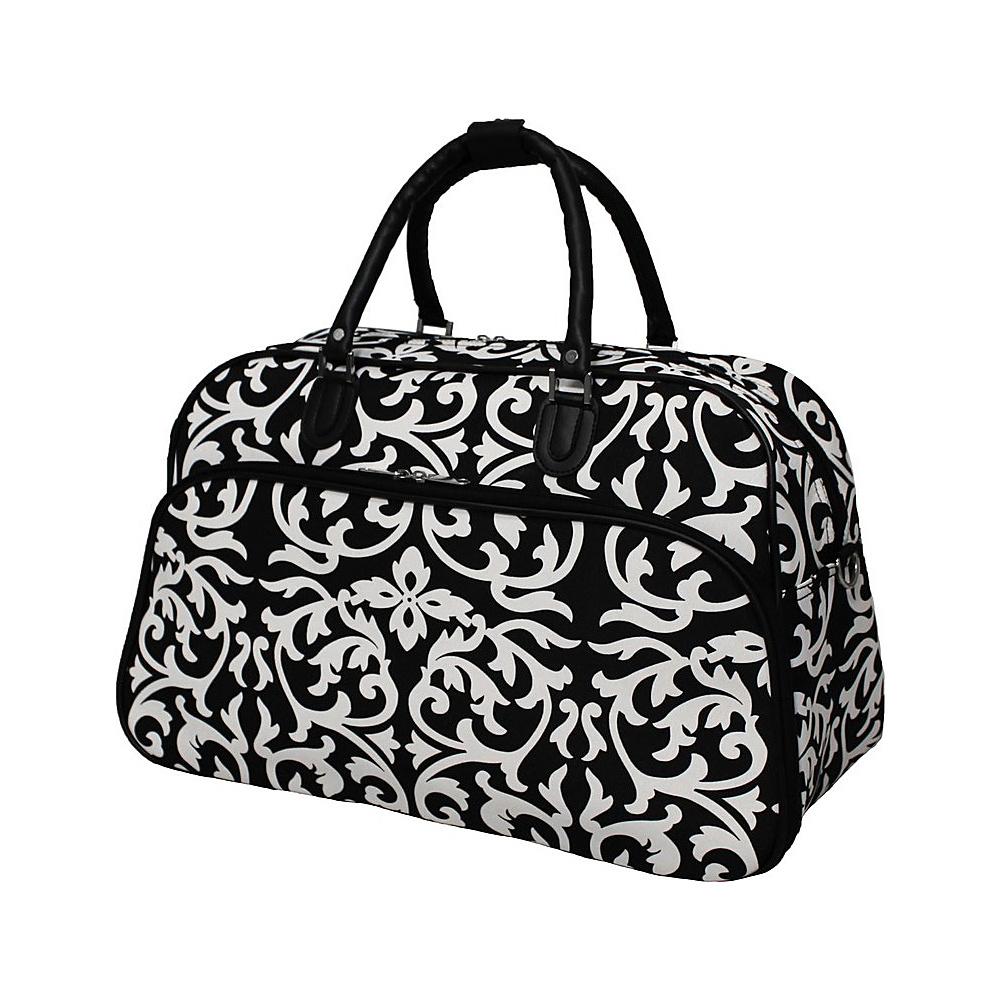 World Traveler Damask 21 Carry-On Duffel Bag Black Trim Damask - World Traveler Rolling Duffels - Luggage, Rolling Duffels