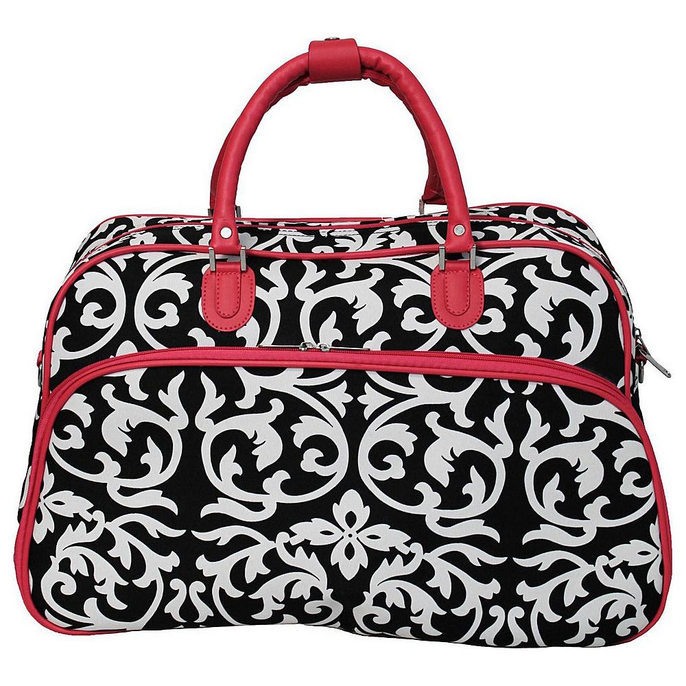 World Traveler Damask 21 Carry-On Duffel Bag Pink Trim Damask - World Traveler Rolling Duffels - Luggage, Rolling Duffels