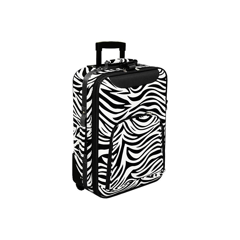 World Traveler Zebra 20 Rolling Carry-On Black Trim Zebra - World Traveler Softside Carry-On - Luggage, Softside Carry-On